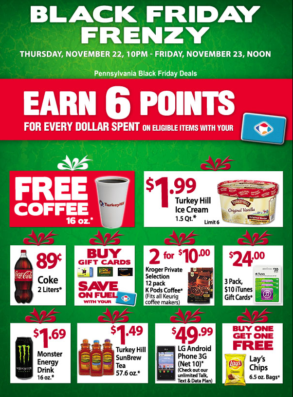 FREE Coffee at Turkey Hill on Black Friday