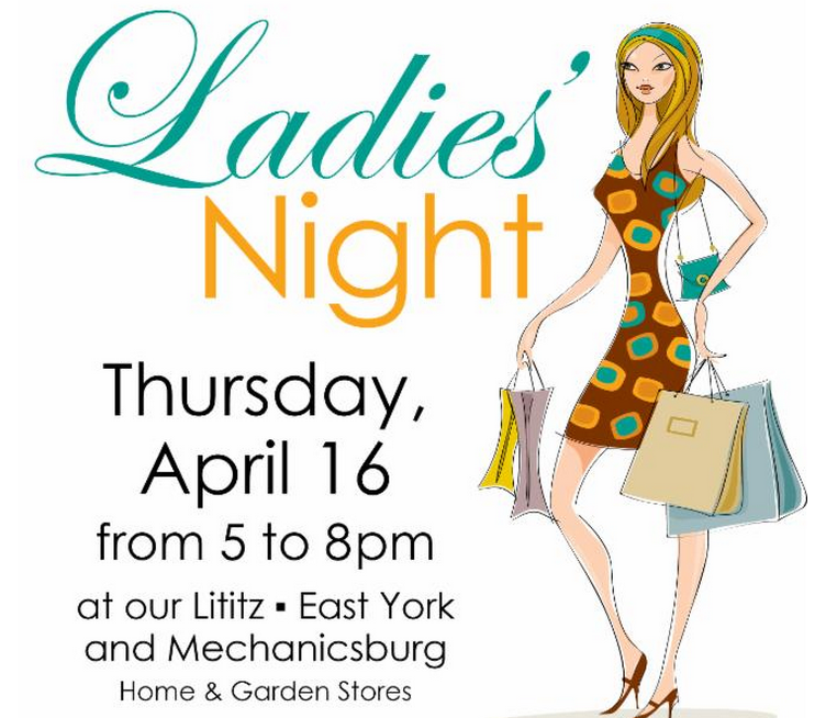 Ladies Night at Stauffer's of Kissel Hill on Thursday, April 16