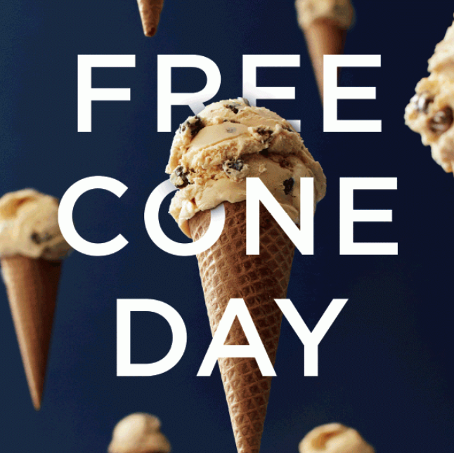 FREE cone at Haagen Daaz on May 12 from 4-8pm