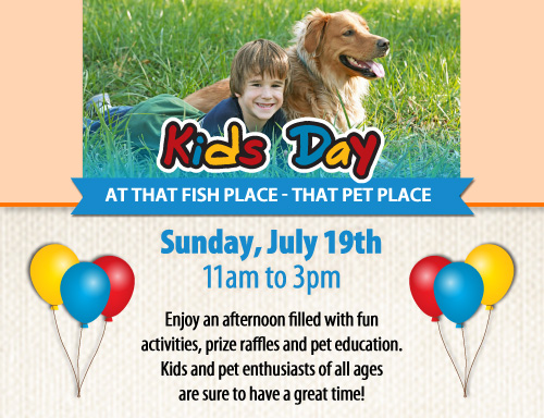 Kids Day at That Fish Place on Sunday, July 19, 2015