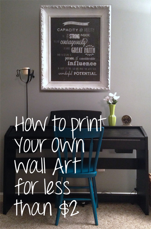 How I Printed My Own Wall Art for less than $2!