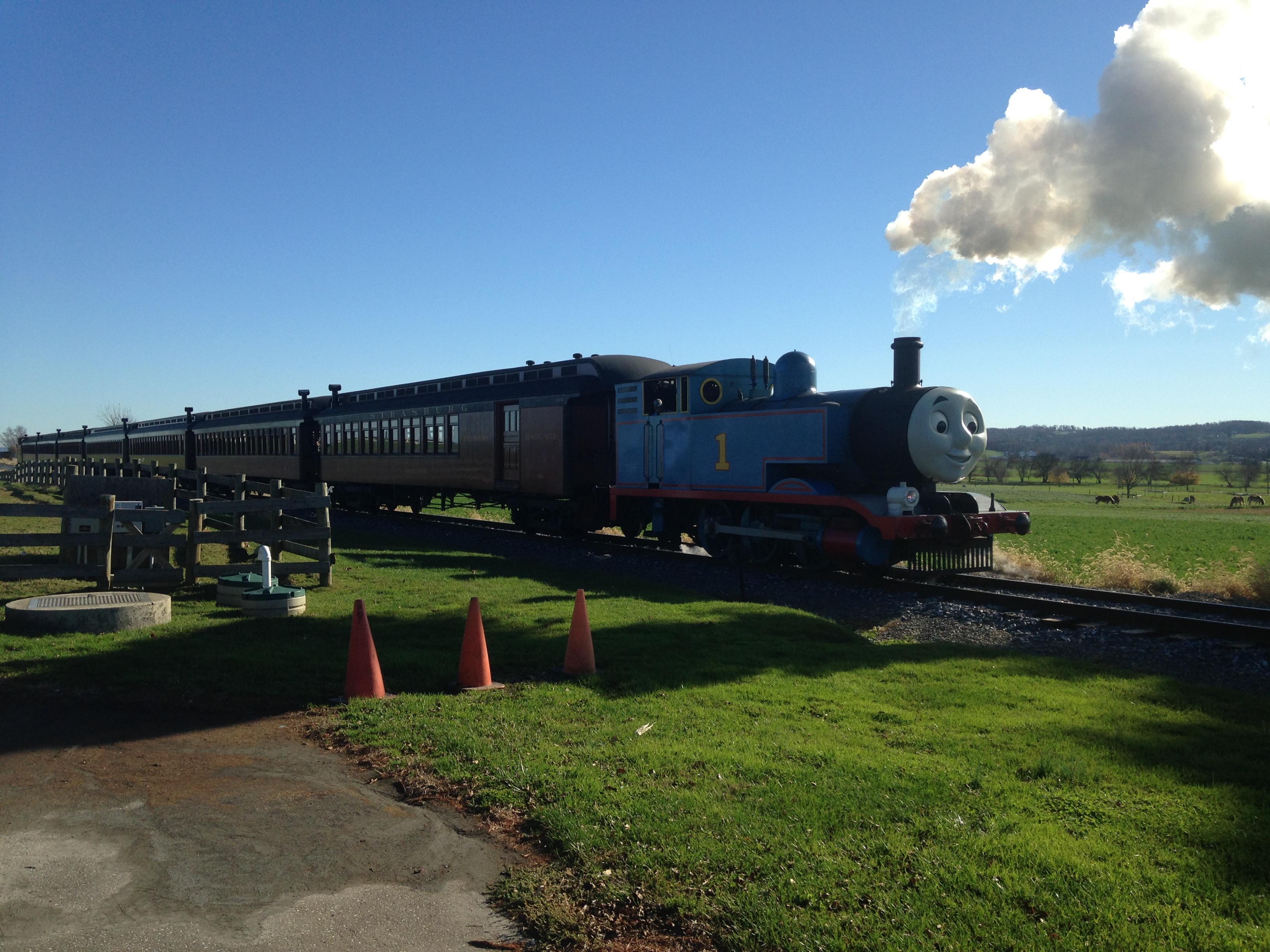 thomas the train at strasburg railroad and percy