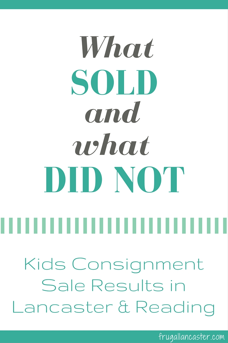 My First Kids Consignment Sale: What Sold and What Did Not Sell