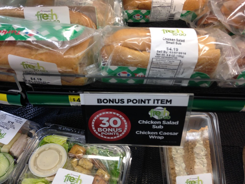 Turkey Hill Small Sub Bonus Points Rewards Program