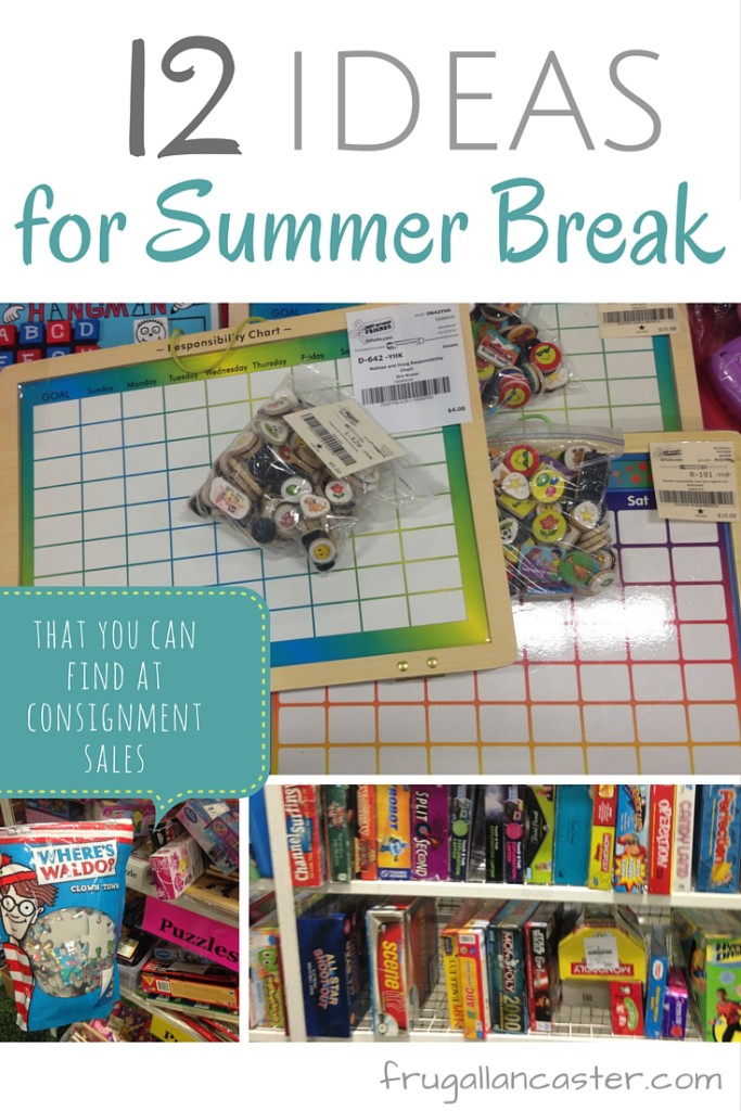 12 ideas of things to buy at consignment sales to help you prepare for summer break
