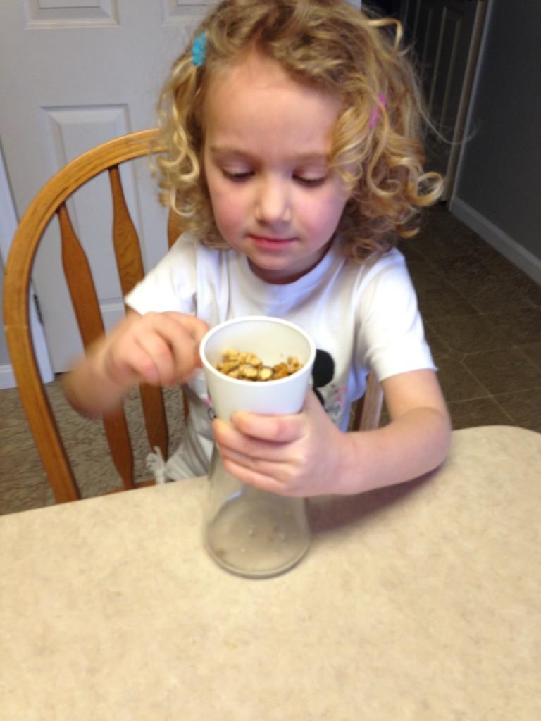 yogurt bites - crushing nuts