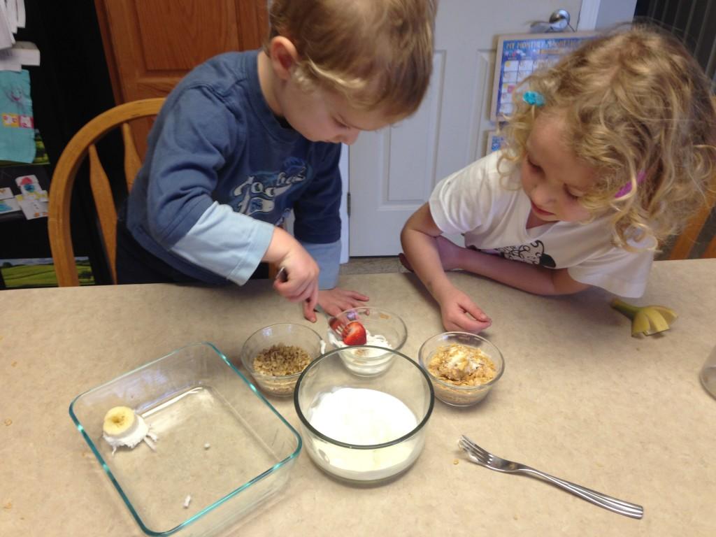 frozen yogurt bites - dipping fruit
