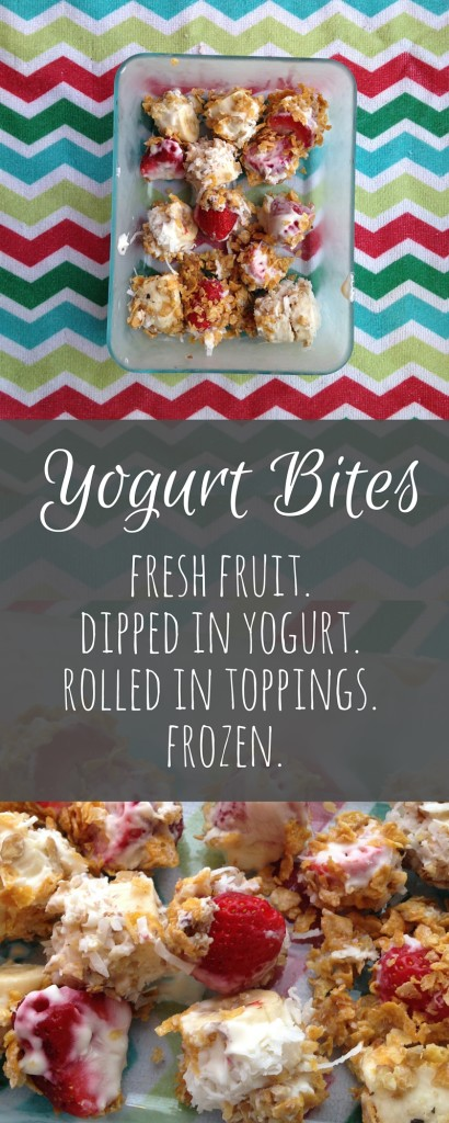 Yogurt Bites - A Simple Frozen Snack You Can Make With Kids