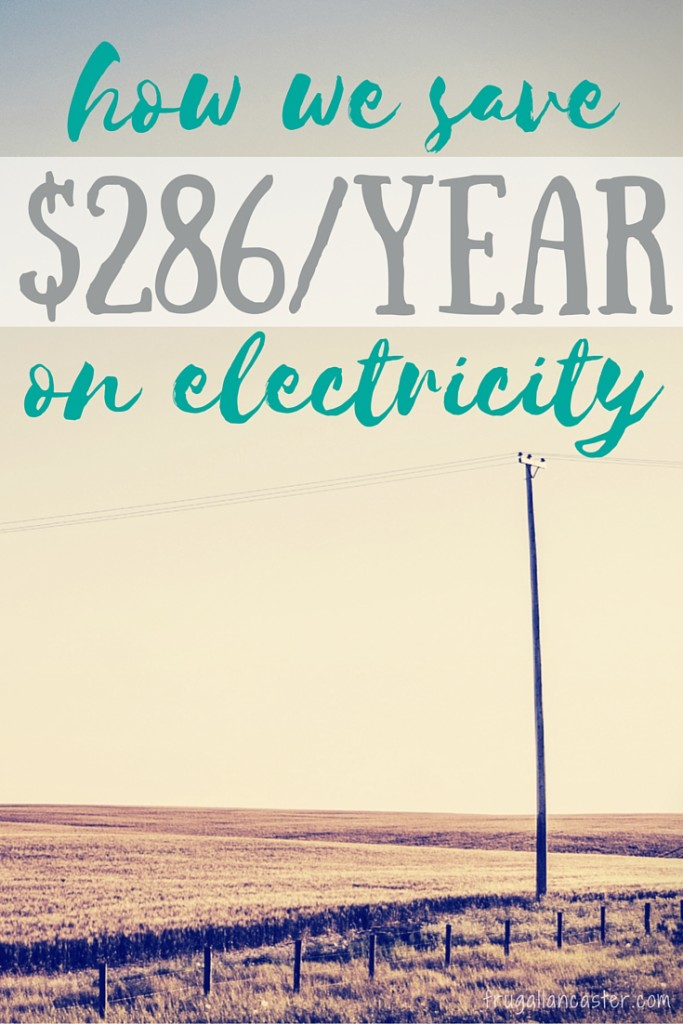 how we save on electricity