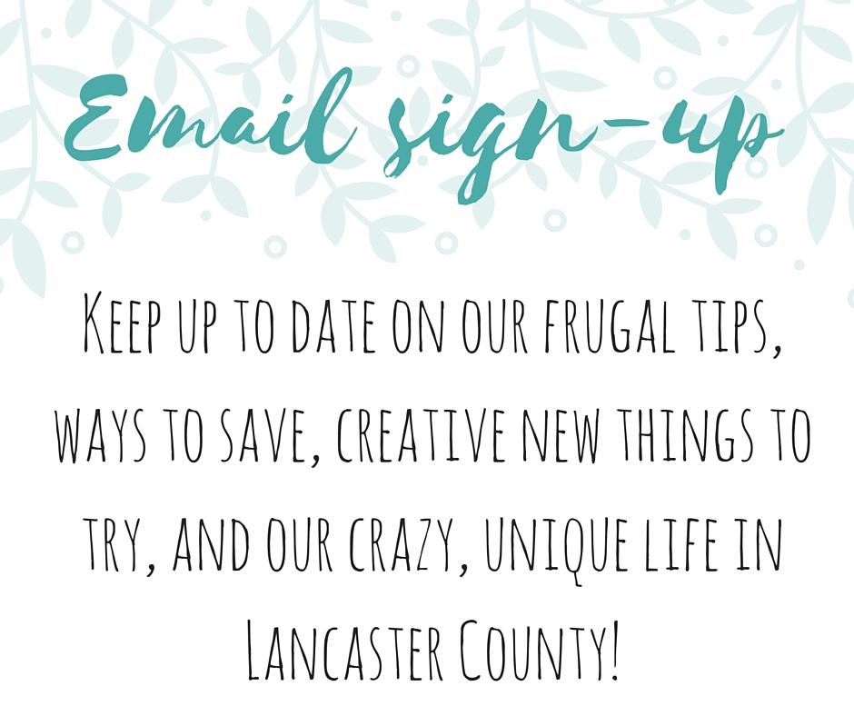 frugal lancaster email update newsletter