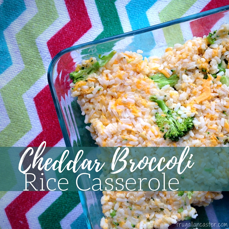 Cheddar Broccoli Rice Casserole Freezer Cooking with a Preschooler