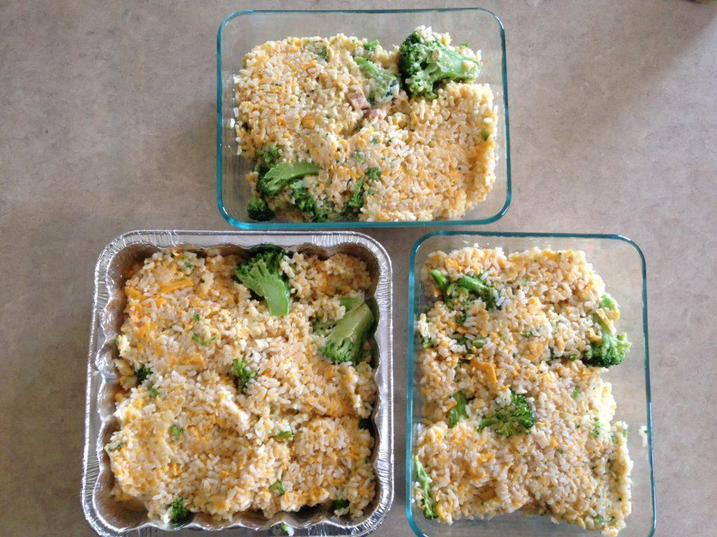 brocolli cheese freezer casserole