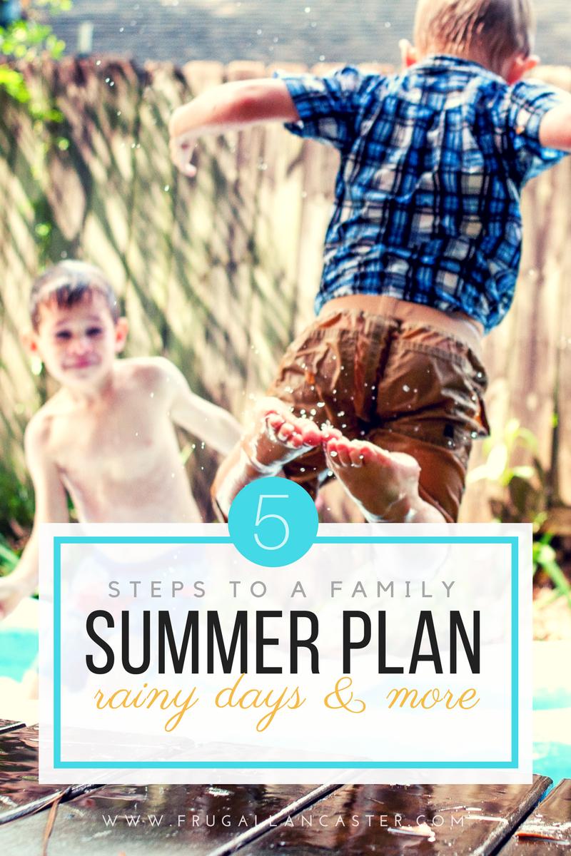 5 Step Summer Plan of Attack — Routines, Responsibilities, Rewards, Rainy Days
