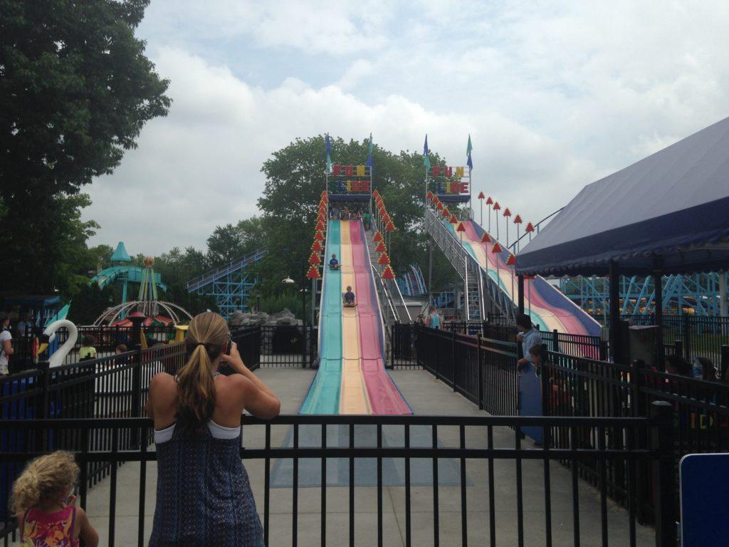 long slide at dutch wonderland amusement park