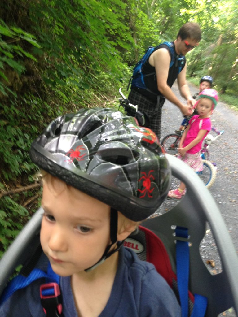 lebanon valley rails to trails bicycle ride with kids