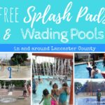 Splash Pads and wading pools summer water fun free in lancaster county