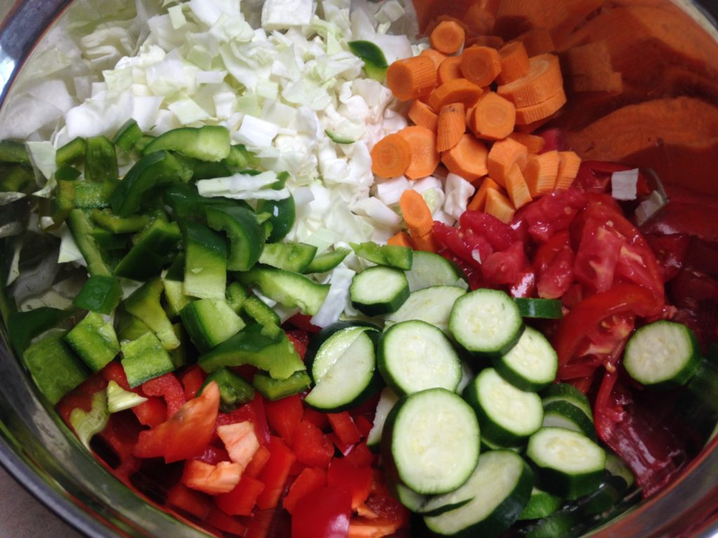 chakalaka chopped veggies