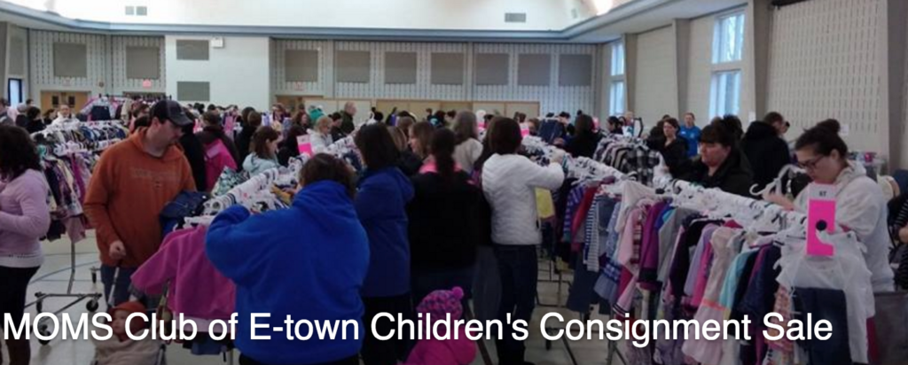 moms club of etown childrens consignment sale