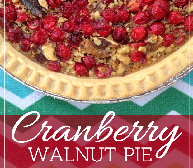cranberry walnut christmas thanksgiving holiday pie