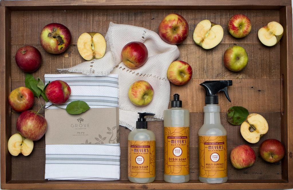 free cleaning set soap and towel