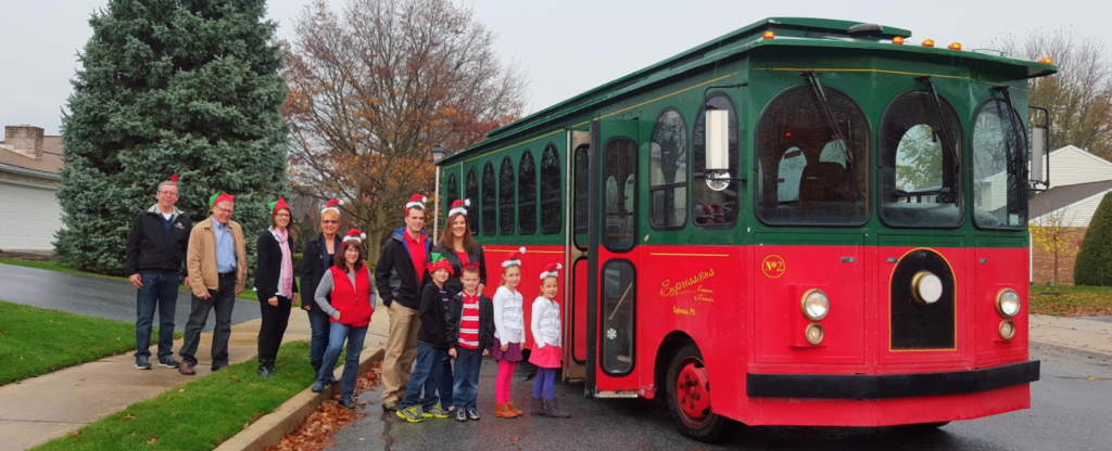 jingle bell trolley tour ephrata christmas event