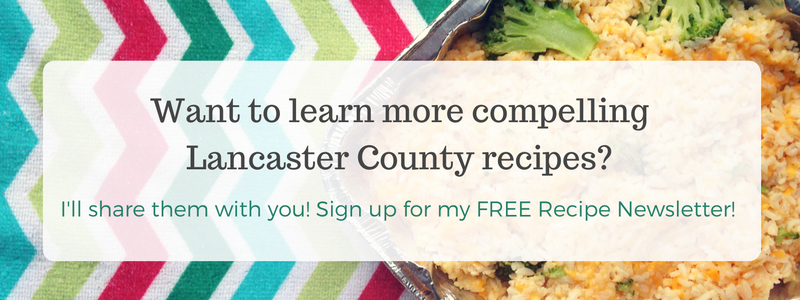 lancaster county recipes email newsletter signup