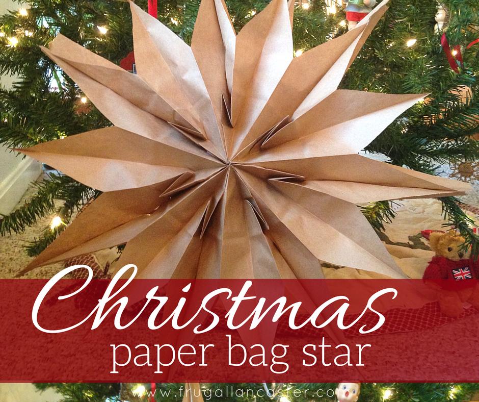 DIY Christmas Paper Bag Star {A Quick Ten-Minute Craft}
