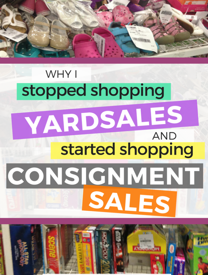 Why I Stopped Shopping Yardsales and Started Shopping Consignment Sales