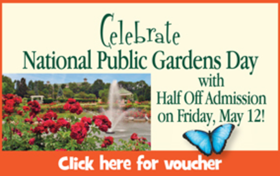 Half Off Admission to Hershey Gardens {Friday, May 12, 2017}