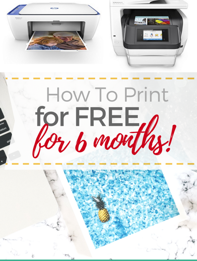 How To Print FREE For 6 Months with HP's Instant Ink Program