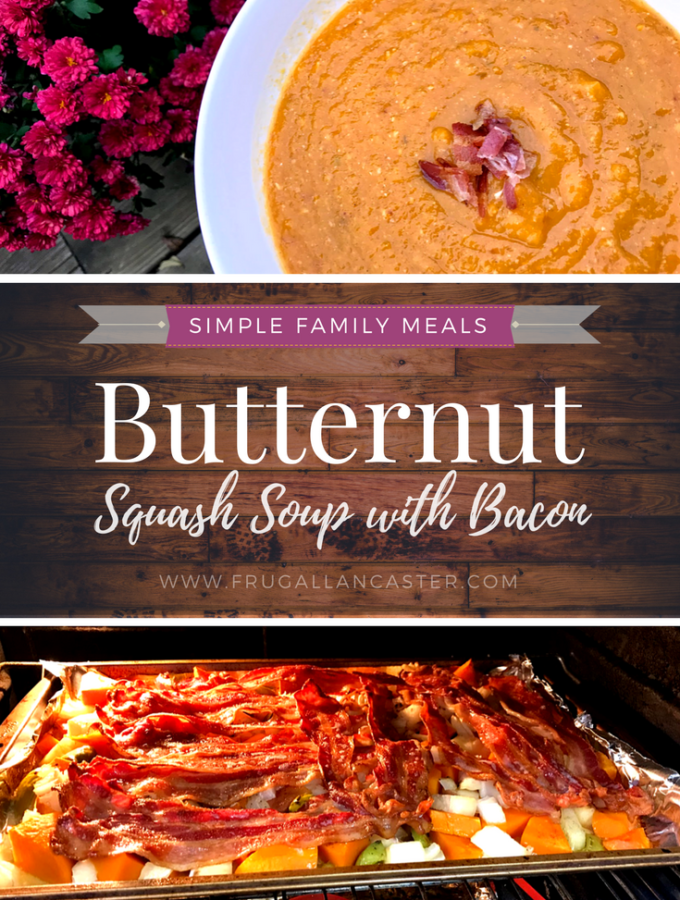 Roasted Butternut Squash Soup {A Simple Fall Family Meal}