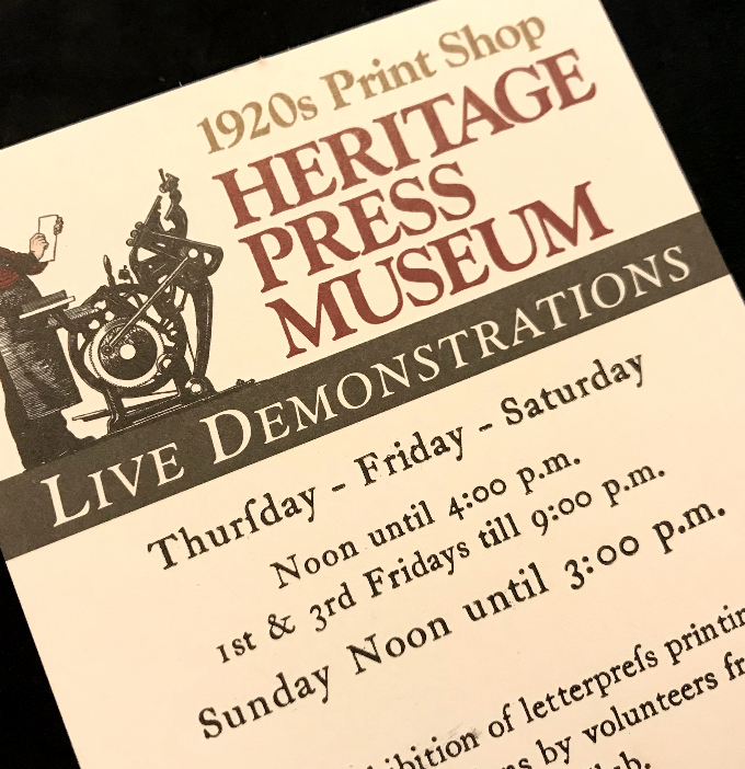 Heritage Press Museum {A 1920s Lancaster County Print Shop}