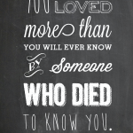 You Are Loved Chalkboard Wall Art