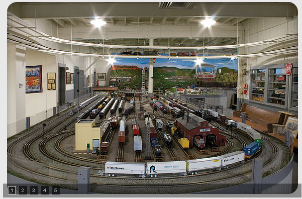 The model railroad club has a fine assortment of toy trains and model