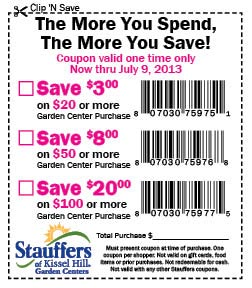 Stauffers Of Kissel Hill Garden Center Coupons
