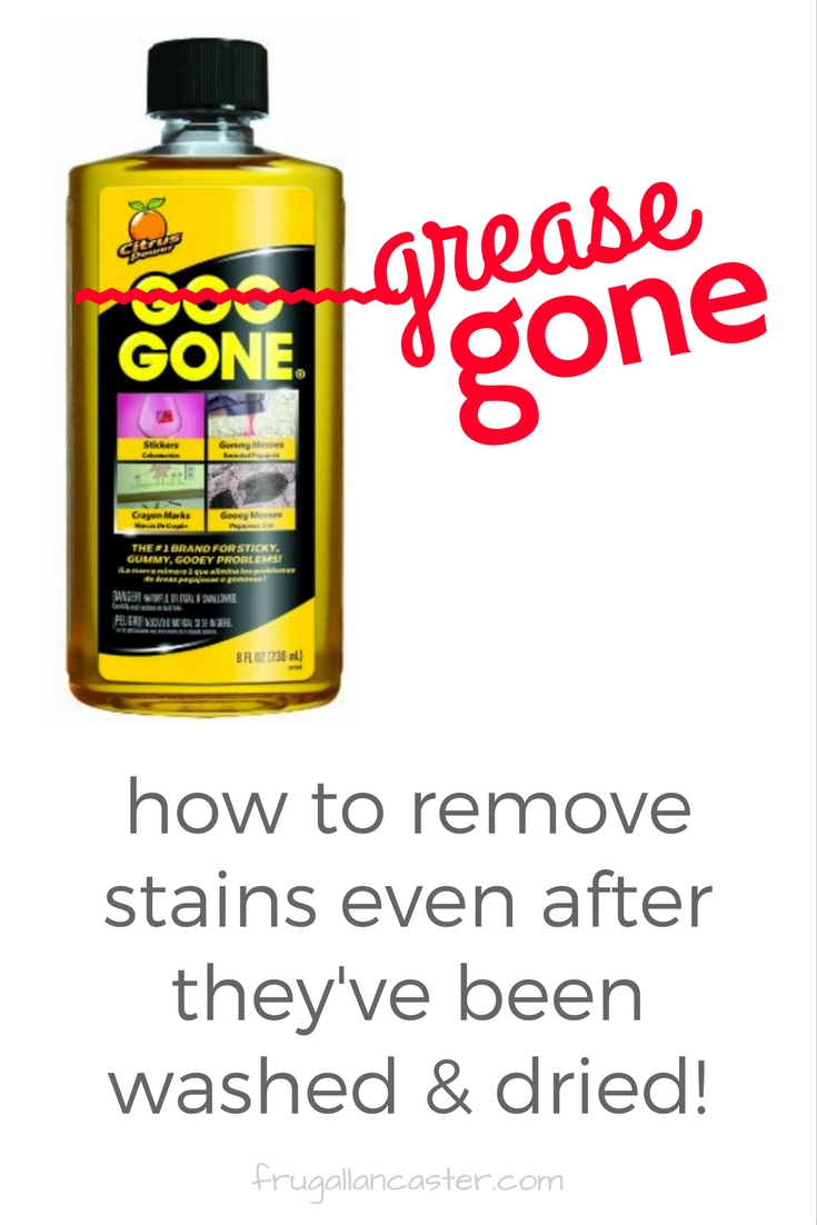 My Secret To Removing Grease Stains Even After Clothing Has Been