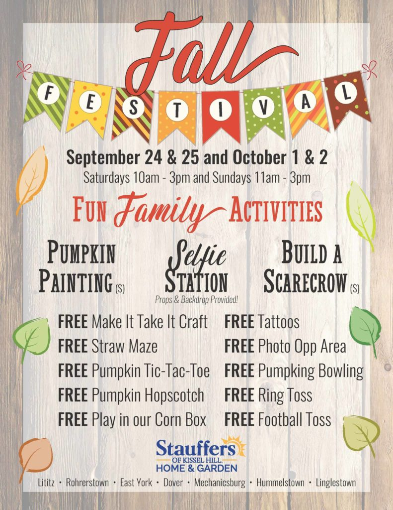 stauffer 39 s of kissel hill fall festival free crafts