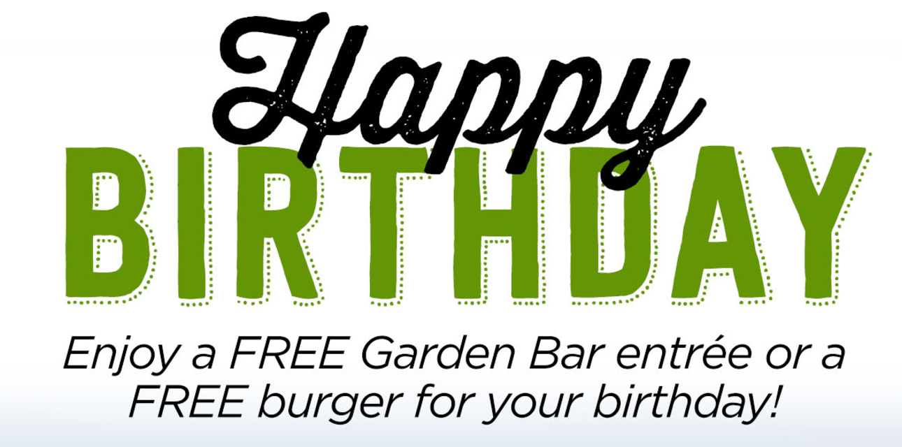 My top 10 favorite birthday freebies in lancaster county - Ruby tuesday garden bar and grill ...