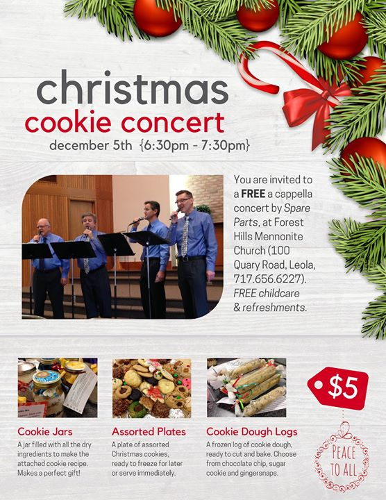 Christmas Cookie Concert By Spare Parts Acappella Group Frugal