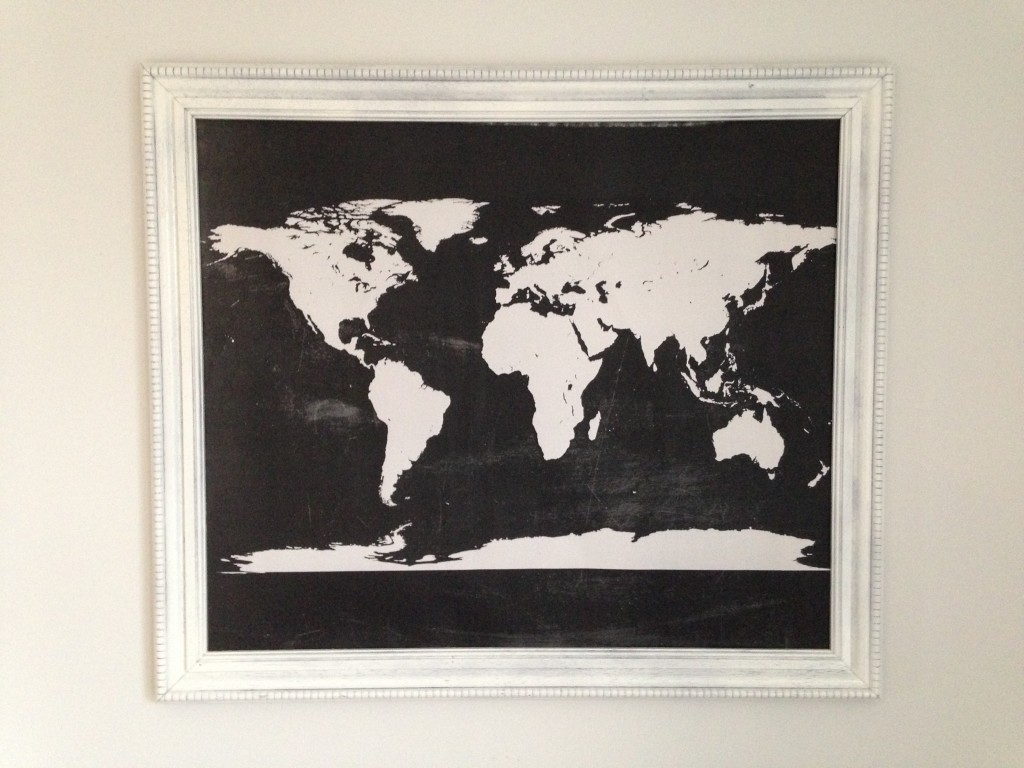 Free Chalkboard World Map Wall Art